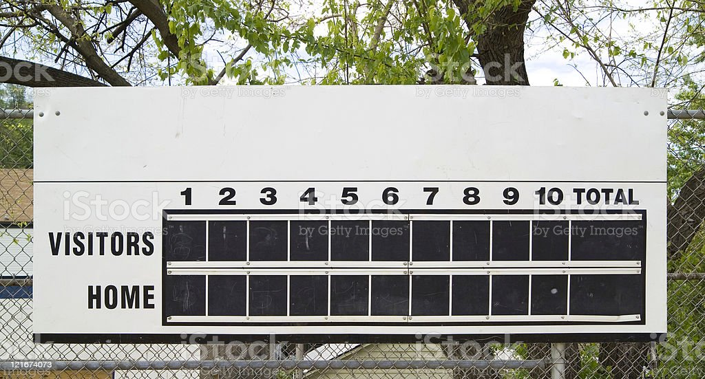 score board royalty-free stock photo