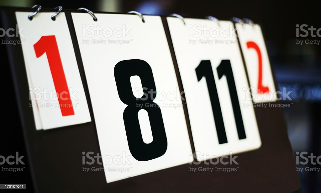 Score of a table tennis match stock photo