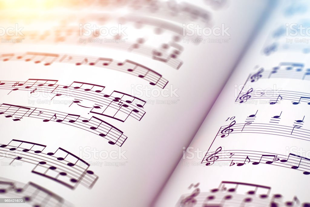 樂譜樂譜書 - 免版稅一個物體圖庫照片