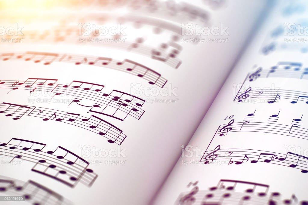 Score sheet music book royalty-free stock photo