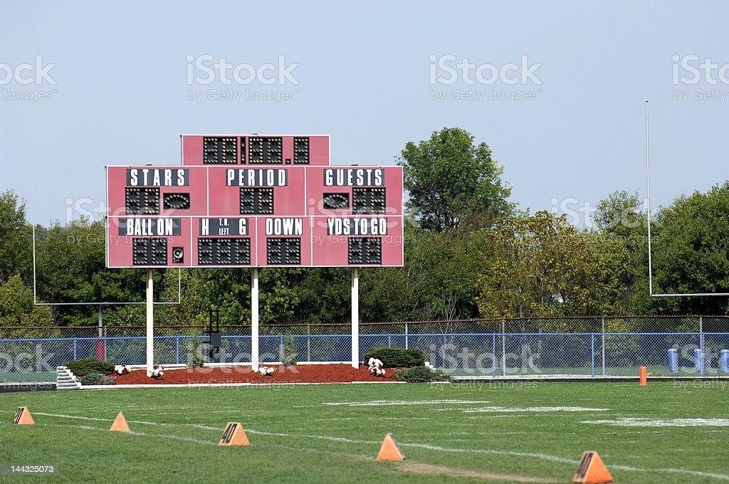 Scoreboard royalty-free stock photo