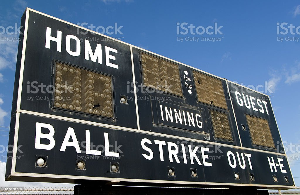 Scoreboard royalty-free stock photo