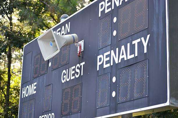 Scoreboard stock photo
