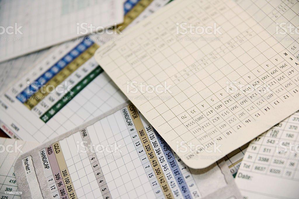 Scorecard Pile stock photo
