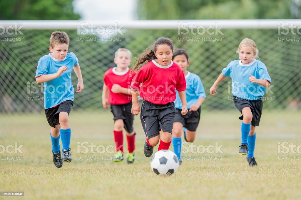 Scoring a Goal stock photo