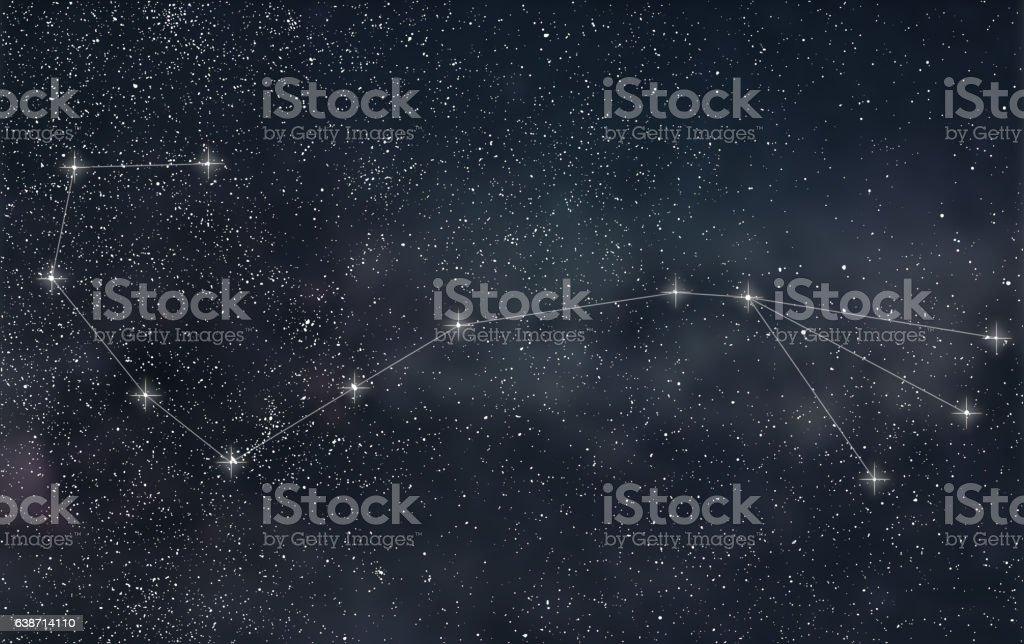 Scorpio Constellation. Zodiac Sign Scorpio constellation lines stock photo
