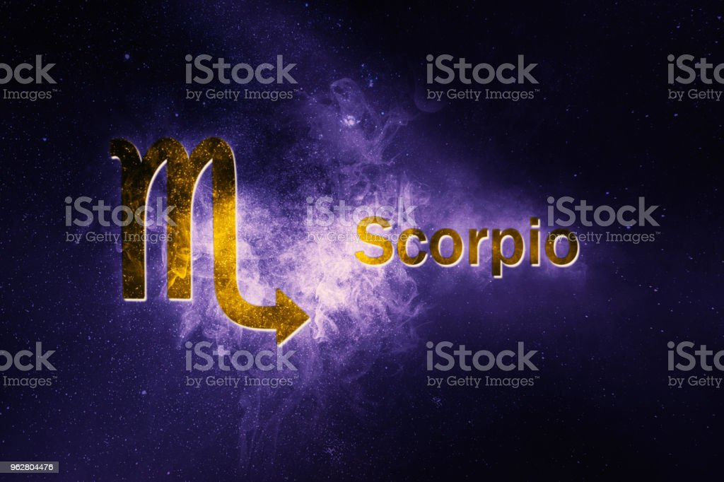 Skorpion Horoskopzeichen. Abstrakte Nacht Himmelshintergrund – Foto
