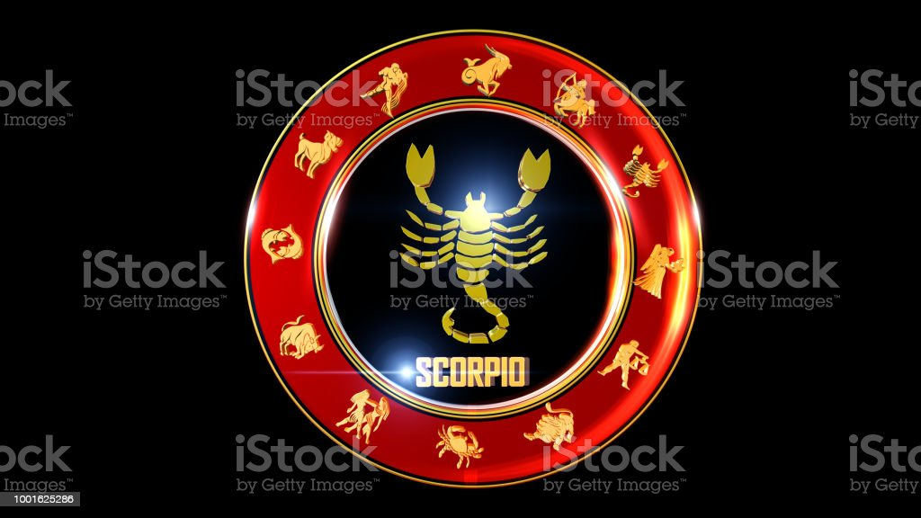 Scorpio Zodiac Wheel stock photo