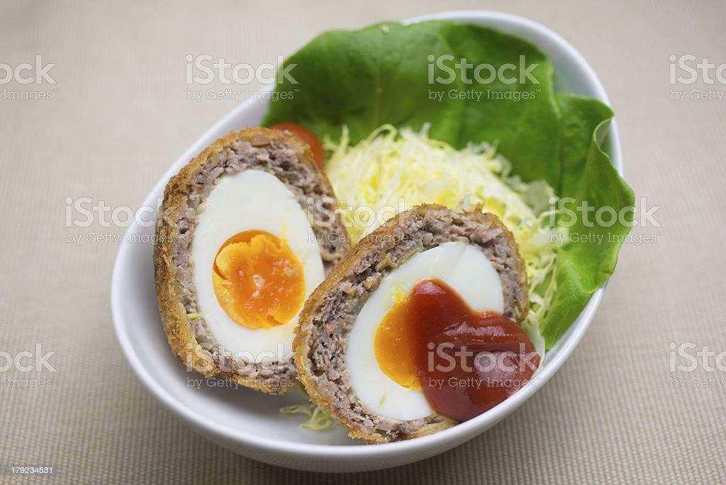Scotch egg of the Japanese style stock photo