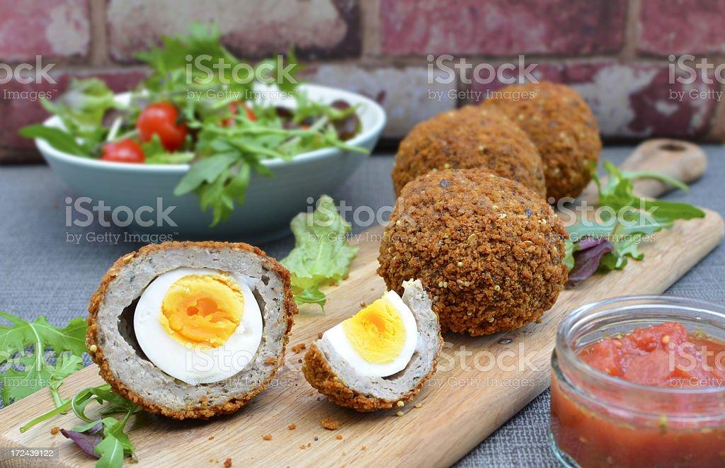 Scotch Eggs stock photo