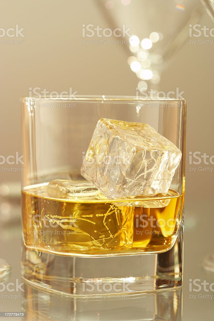 scotch on ice royalty-free stock photo