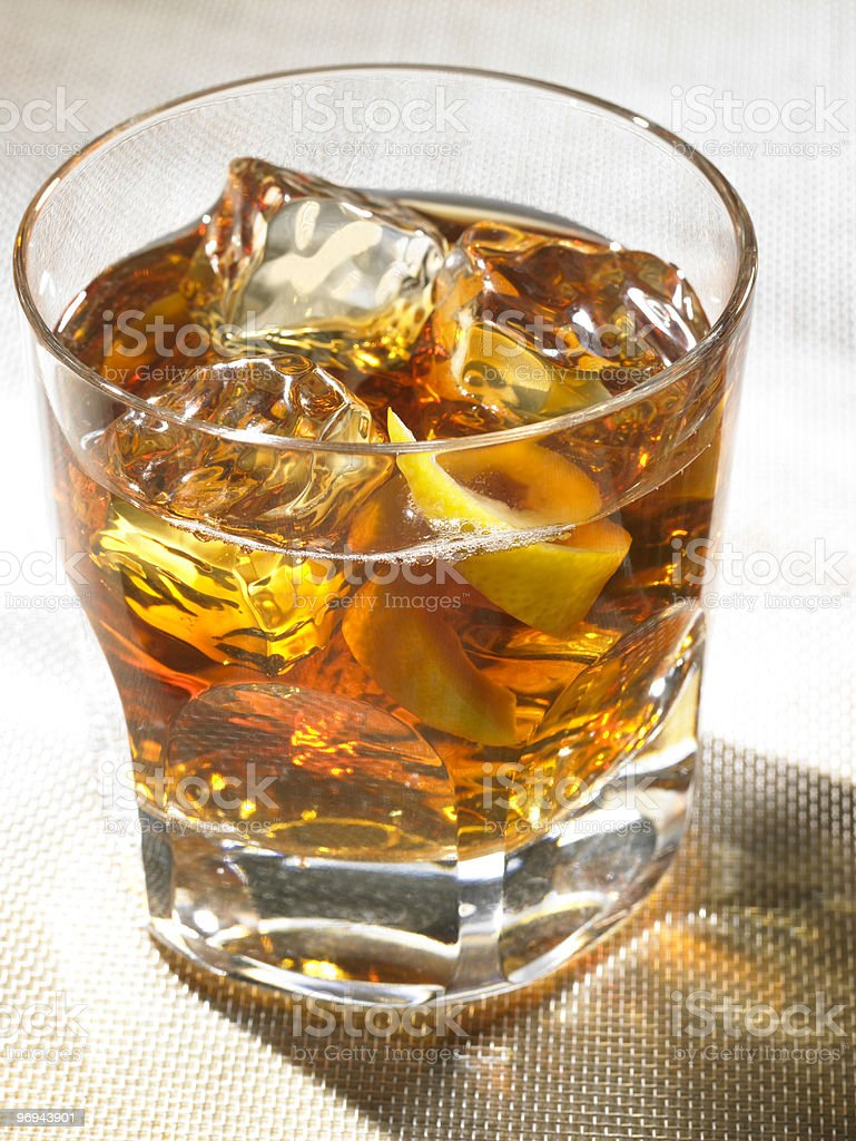 Scotch on rocks1 royalty-free stock photo