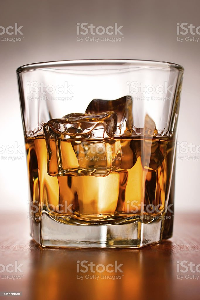 Scotch on the Rocks royalty-free stock photo