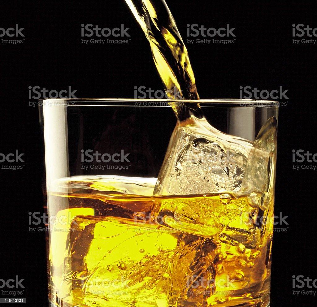 Scotch pour stock photo