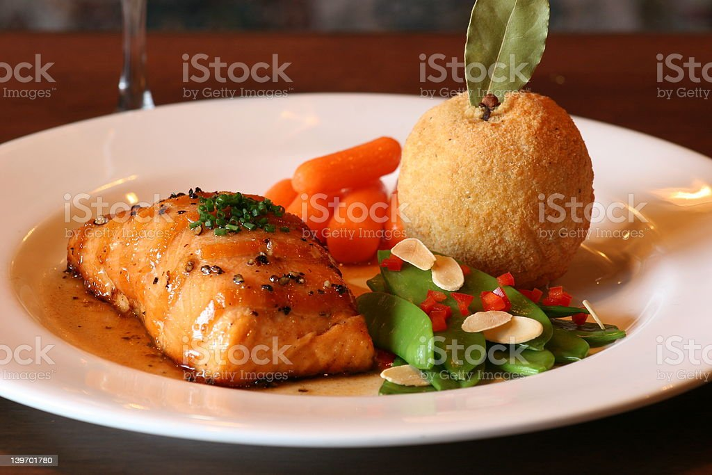 Scotch Salmon royalty-free stock photo