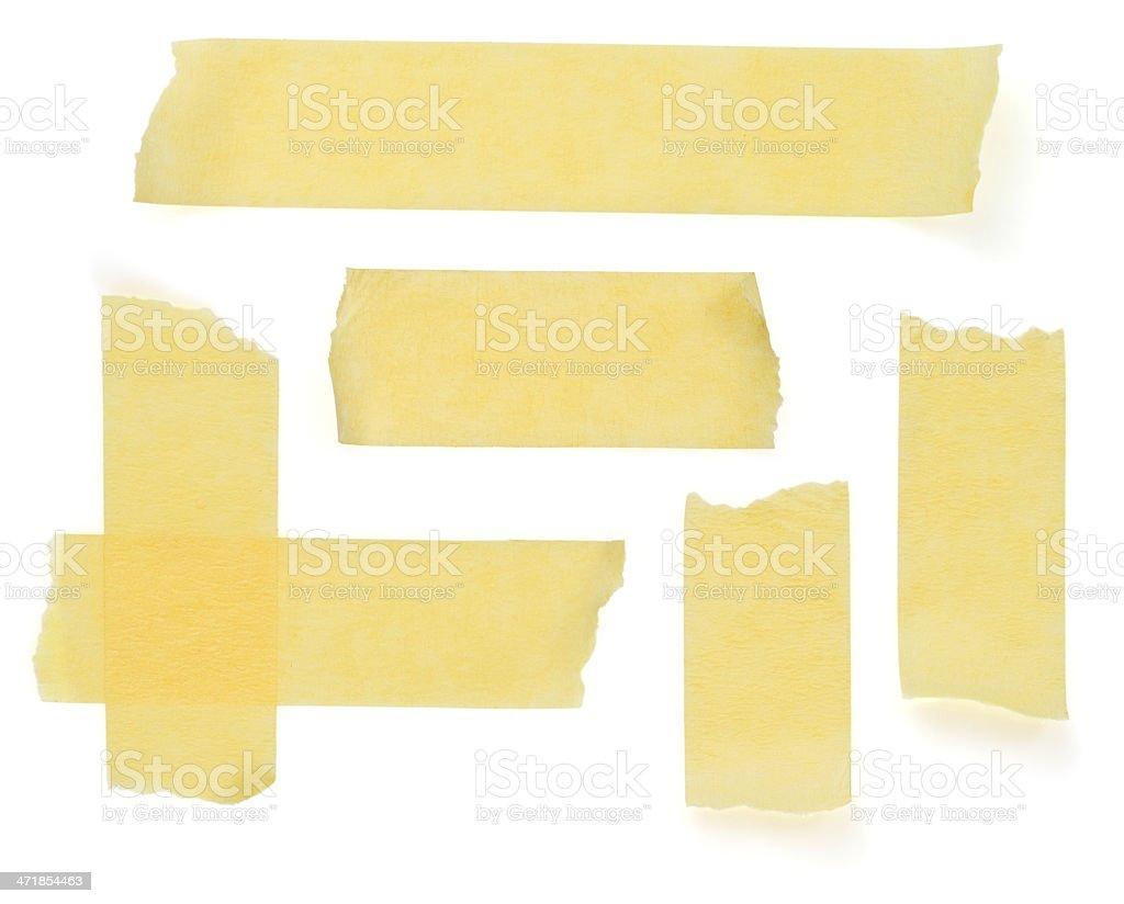 scotch strips on white stock photo