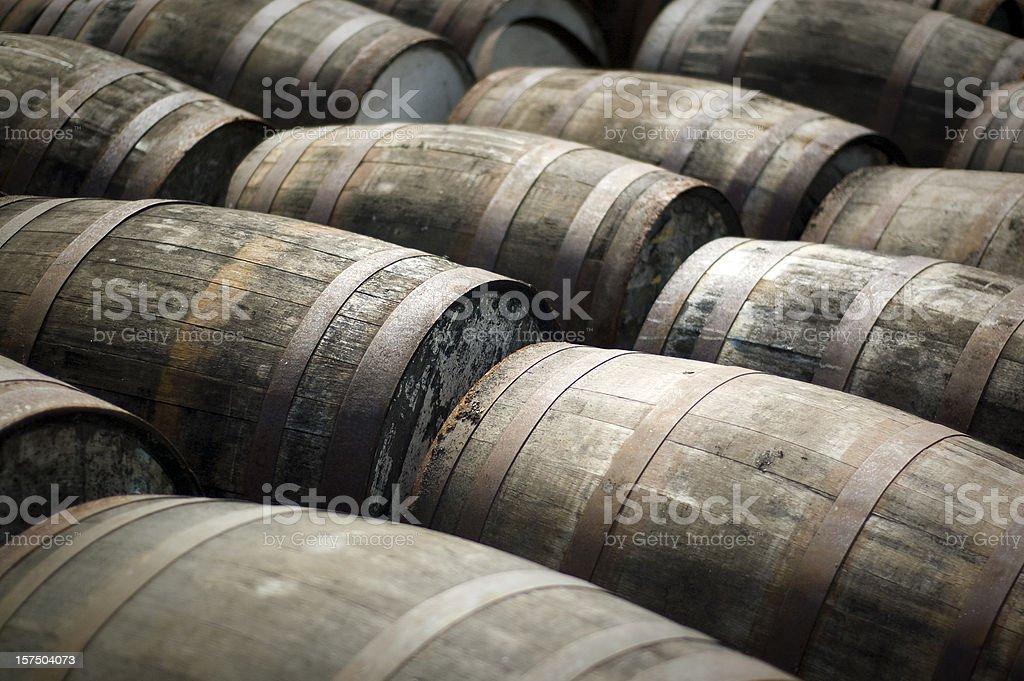 Scotch Whisky Barrels stock photo