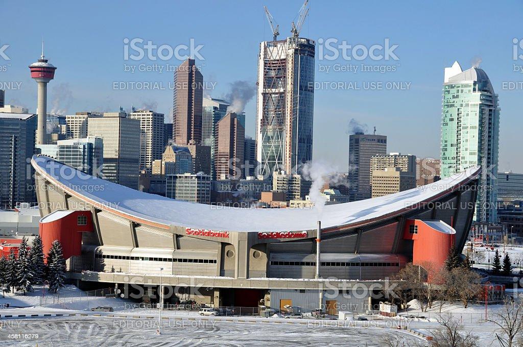 Scotiabank Saddledome stock photo