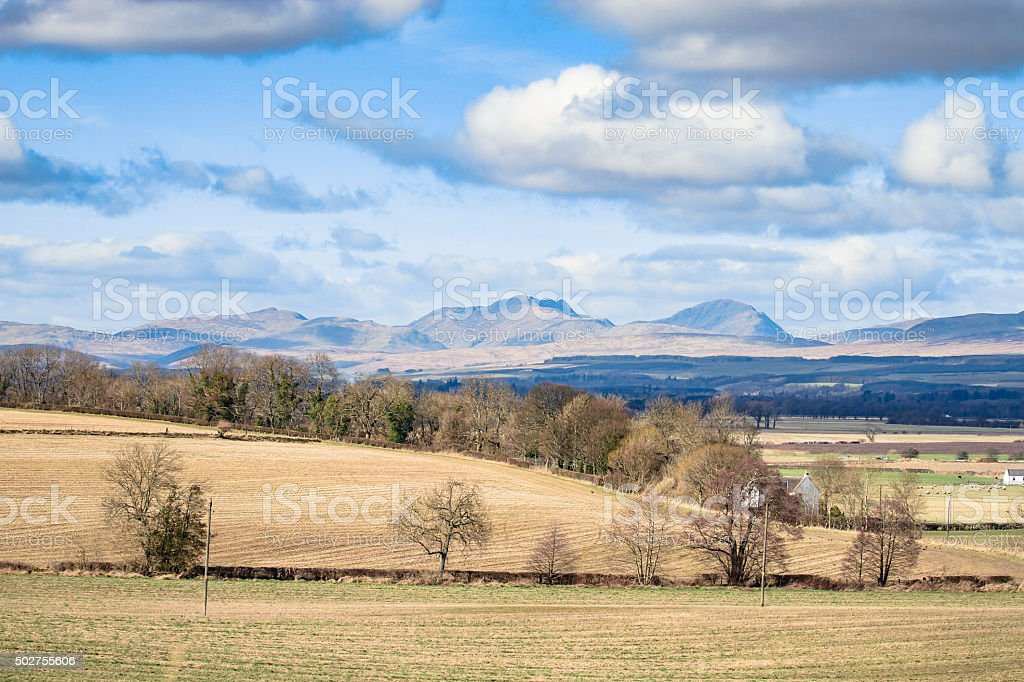 Scotish landscape in Stirling, Scotland stock photo