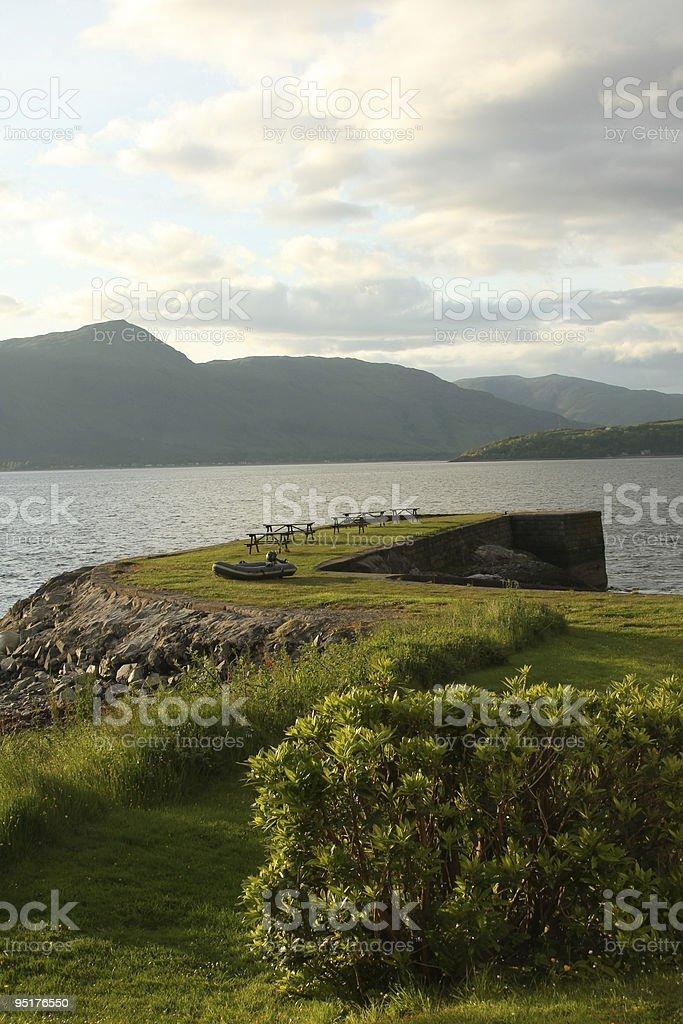Scotish Loch royalty-free stock photo