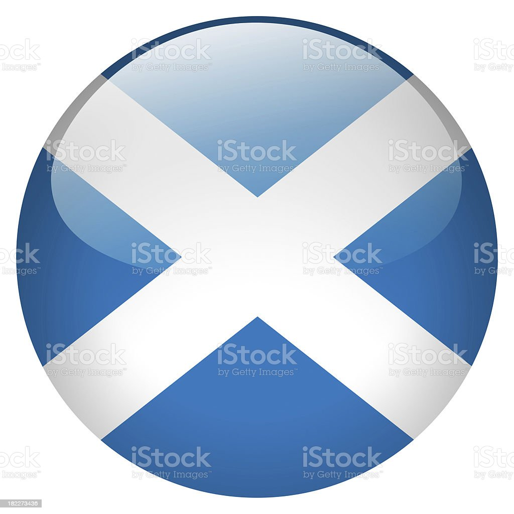 scotland button stock photo