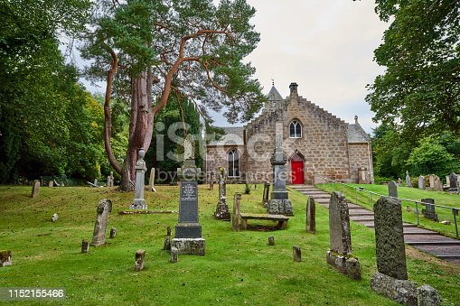 Looking at small church in Cawdor near Inverness in Scotland.
