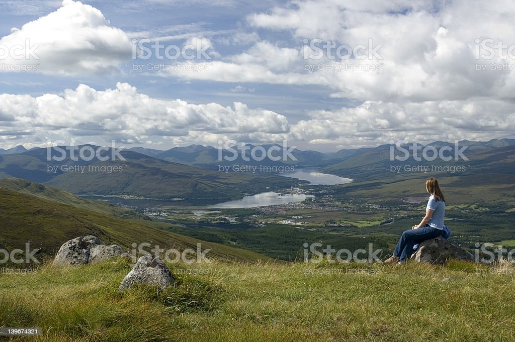 Scotland Contemplation royalty-free stock photo