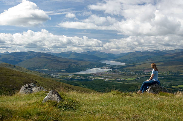 Scotland Contemplation stock photo