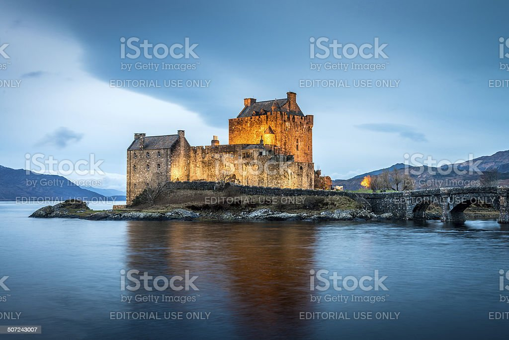 Scotland Eilean Donan Castle stock photo
