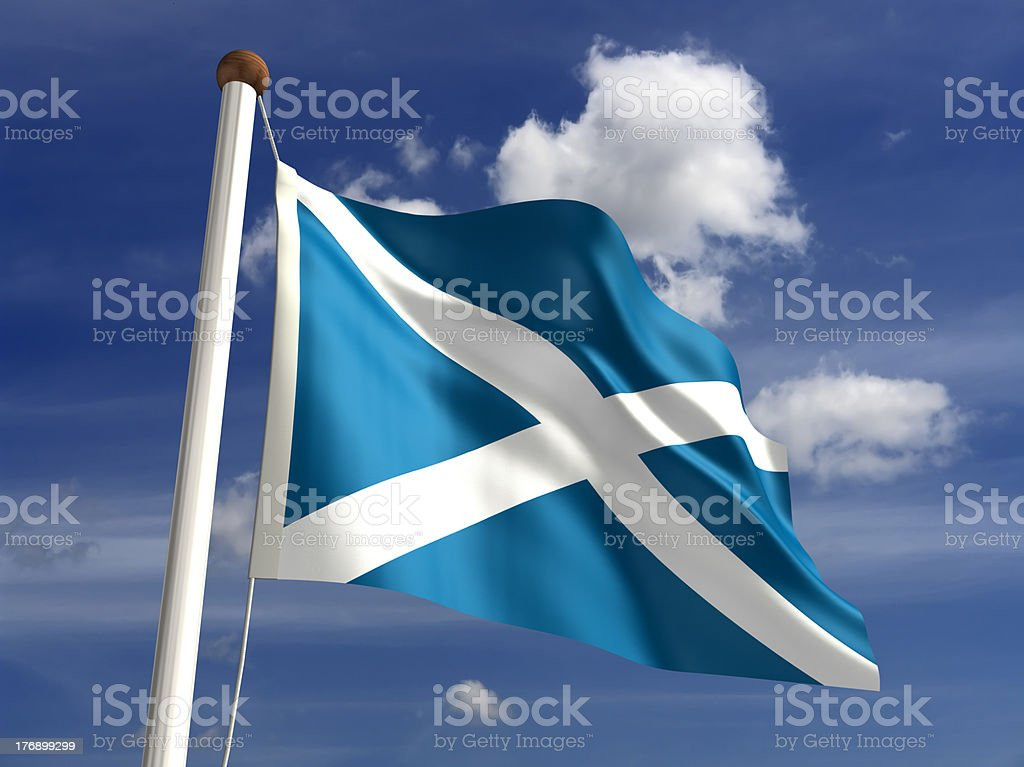 Scotland flag (with clipping path) stock photo