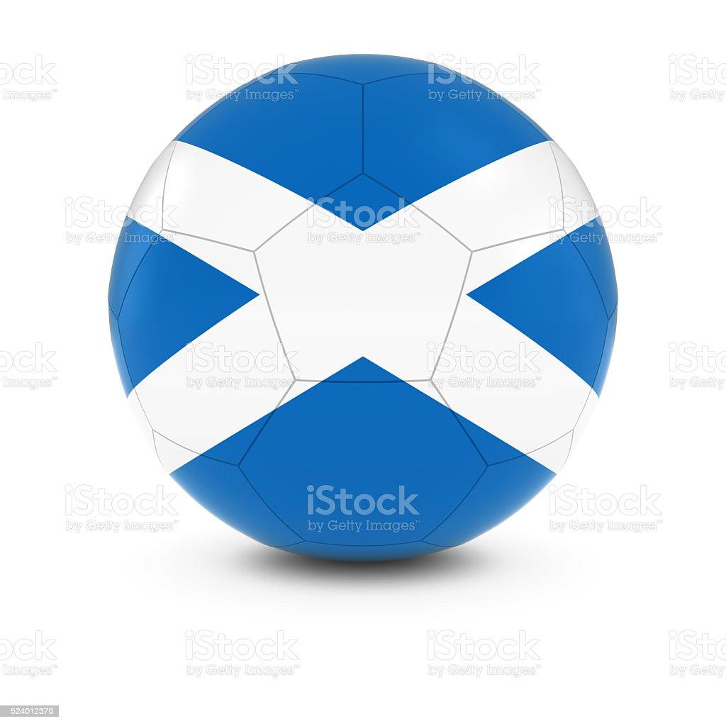 scotland football scottish flag on soccer ball stock photo