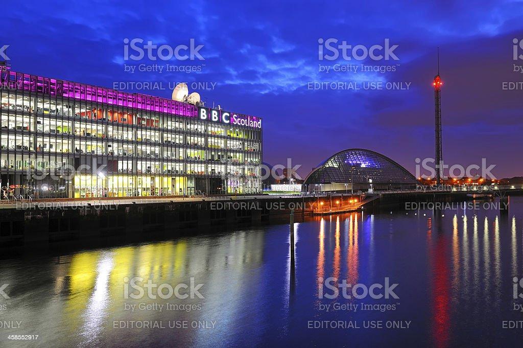 BBC Scotland, Glasgow royalty-free stock photo