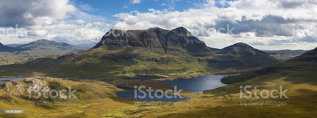 Scotland Highland mountain wilderness dramatic landscape panorama stock photo