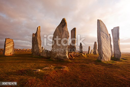 Callanish standing stones: neolithic stone circle in Isle of Lewis, Scotland