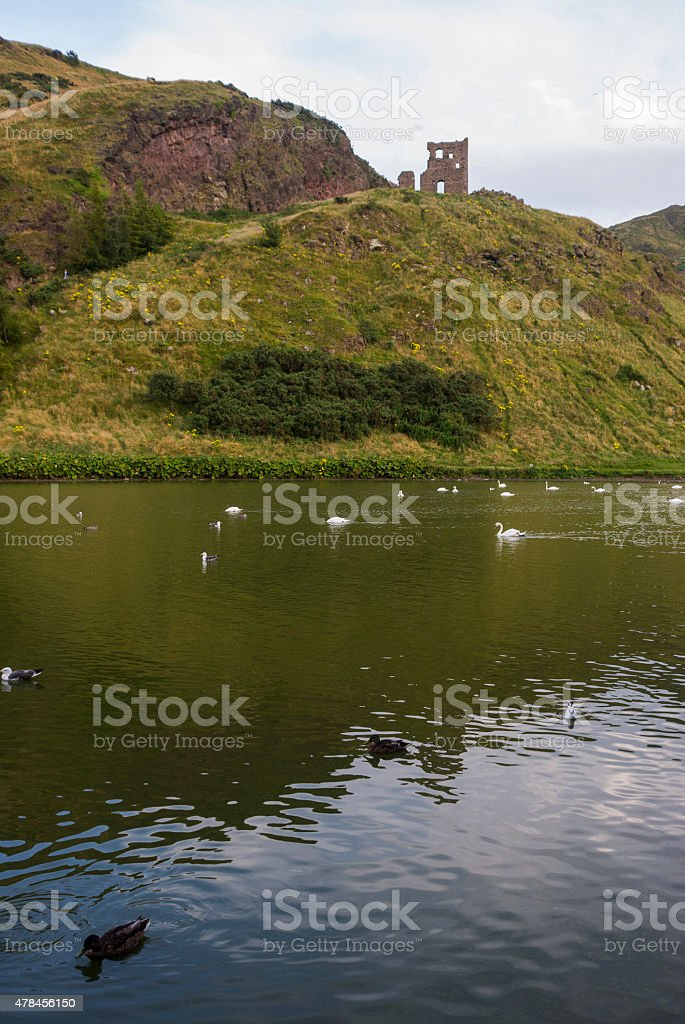 Scotland - Loch on Arthur Seat stock photo