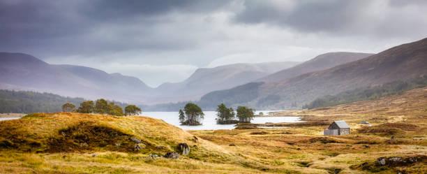Scotland Loch Ossian stock photo