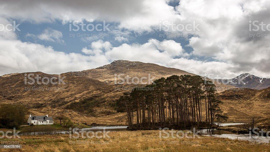 Scotland Loch eilt cottage stock photo