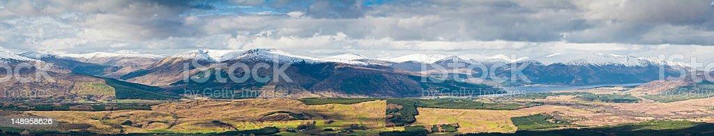 Scotland Lochaber glen mountain vista royalty-free stock photo