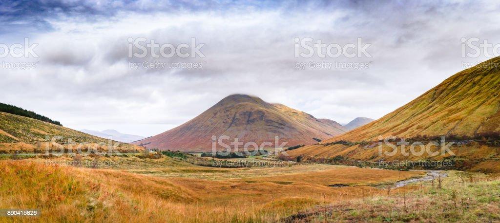 Scotland mountain panorama stock photo