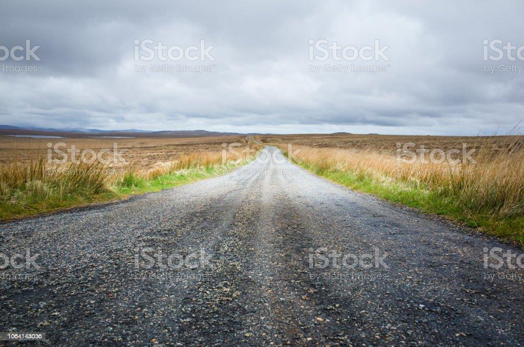 Scotland Open Road on Lewis stock photo