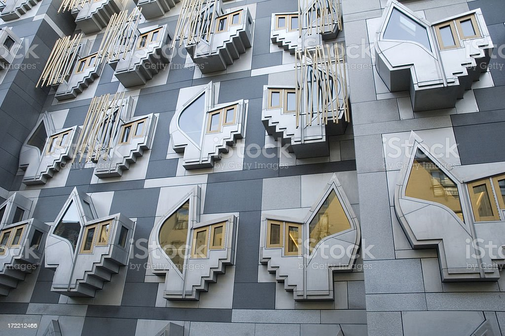 Scotland Parliament Building royalty-free stock photo