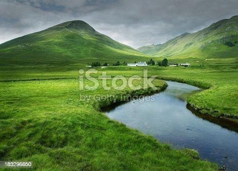 Glen Cluanie in the Scottish Highlands.