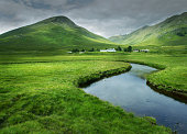 Glen Cluanie in the Scottish Highlands.