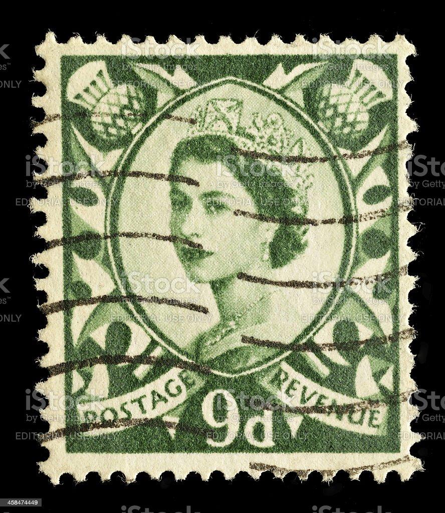 Scotland Postage Stamp royalty-free stock photo