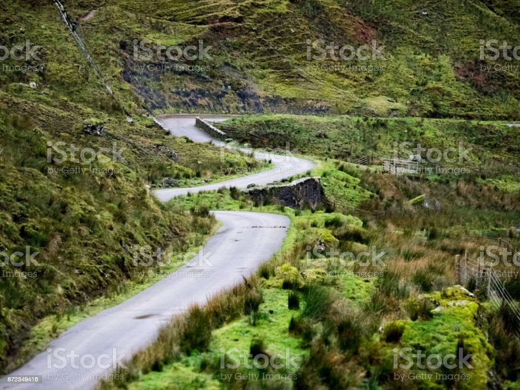 Scotland road in the highlands stock photo