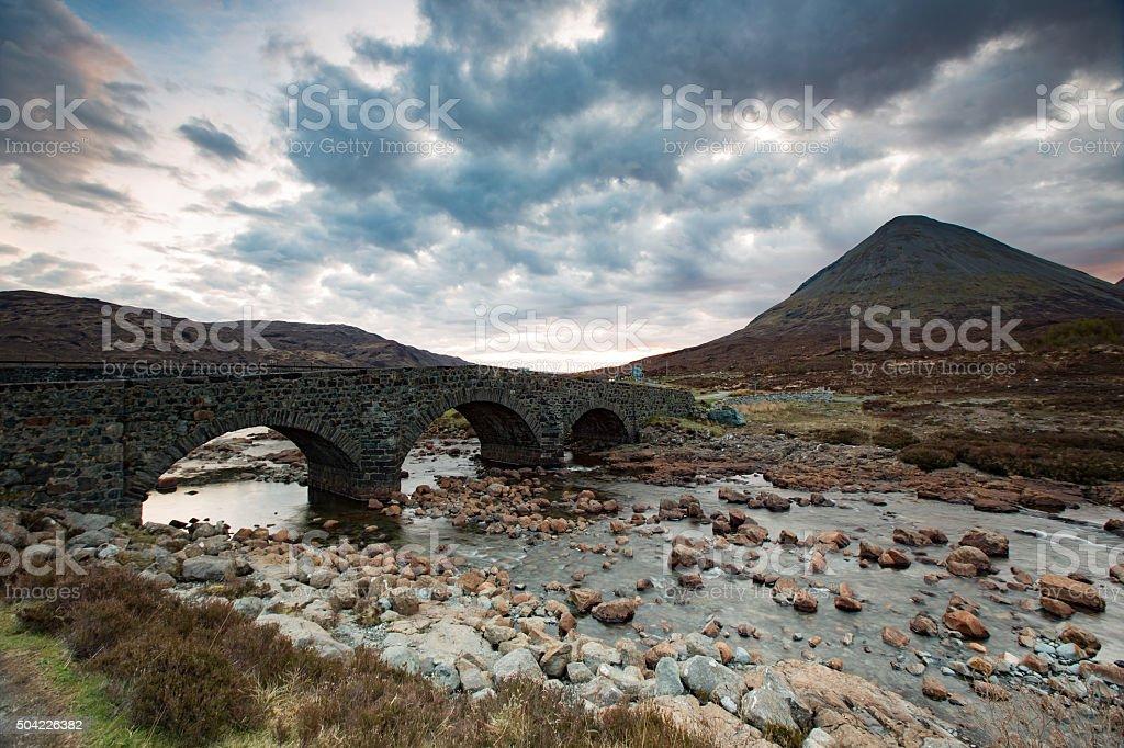Scotland sligachan landscape stock photo