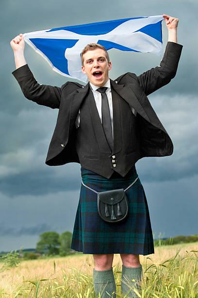 Scotland the brave stock photo