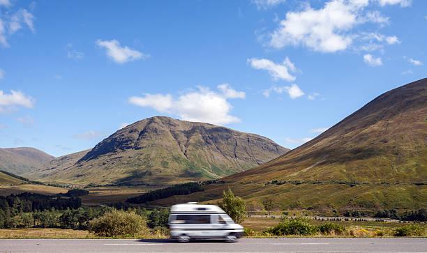 Scotland the open road. stock photo