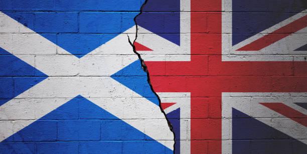 Scotland vs the United Kingdom stock photo