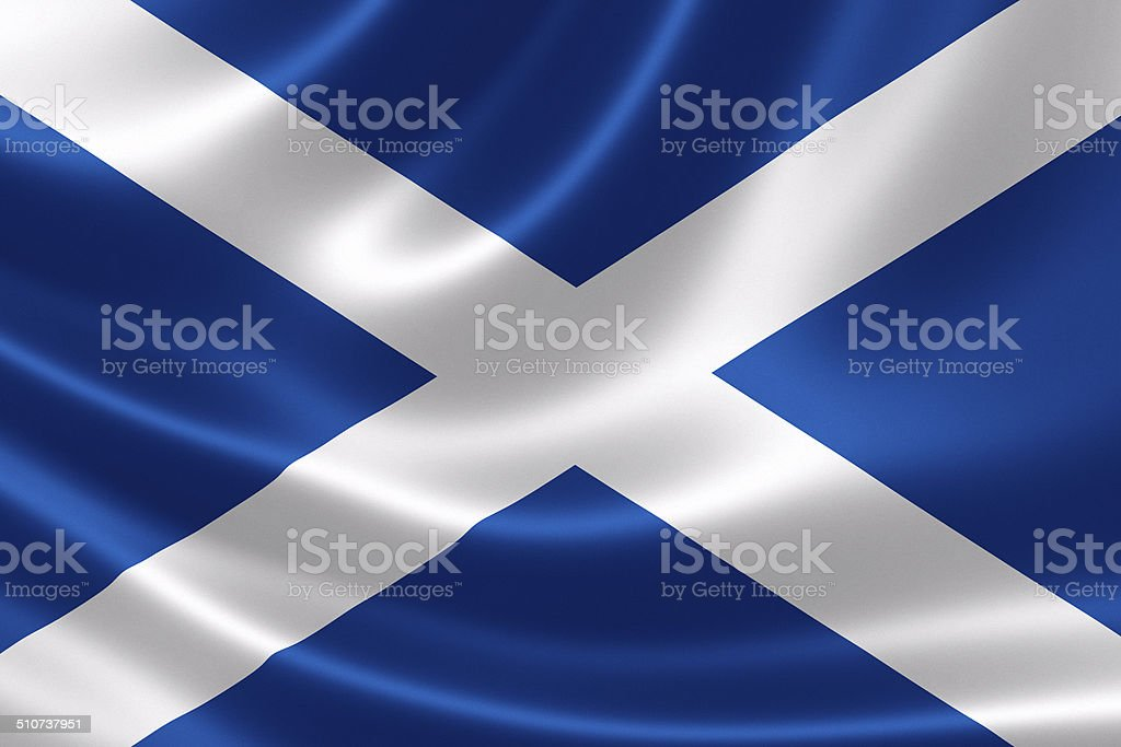 Scotland's Flag stock photo